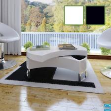Tavolino da Caffè Regolabile Lucido Basso Tavolo da Salotto Riporre gli oggetti