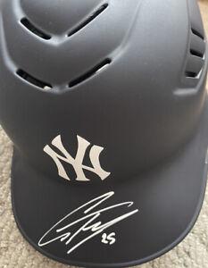 Glebyer Torres Signed NY Yankees Authentic Helmet Beckett COA