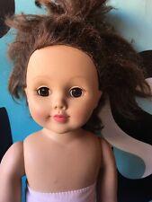 """Madame Alexander 18"""" Doll Hair CUT Needs TLC Brunette"""
