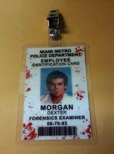Dexter ID Badge-Forensics Examiner Morgan Dexter bloody