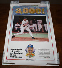 1993 Minnesota Twins Dave Winfield 3000 Hits Star Tribune 23x14.5 Poster Reprint