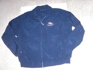 DENVER BRONCOS zip front Antigua soft nylon Jacket men's Large