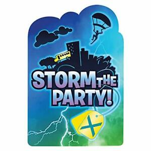 Pack of 8 Amscan Battle Royal Storm the Party Post Card Invitation