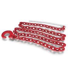 3 x Forstketten 8 mm, 2,0 m + 3 x Seilgleitbügel drehbar,Grad 80, Rückeketten