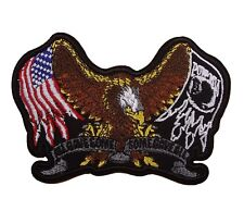 POW MIA All Gave Some - Some Gave All Embroidered Patch Military Veteran Biker