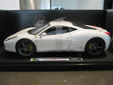 1:18 HOT WHEELS ELITE FERRARI 458 ITALIA FERNANDO ALONSO WHITE *NEW*