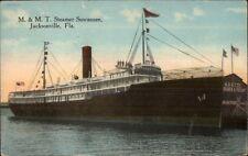 Jacksonville FL M&MT Steamer Suwannee c1910 Postcard