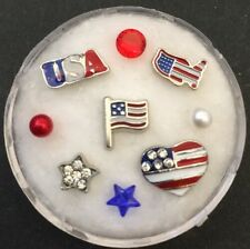 Floating Charm Set~*~Independence Day 4th Of July Patriotic~*~for Living Lockets