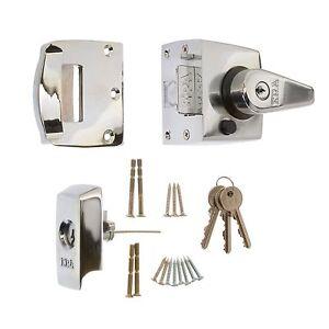 ERA Front Door Lock High Security BS3621 Nightlatch SC, CH, PB extra key options
