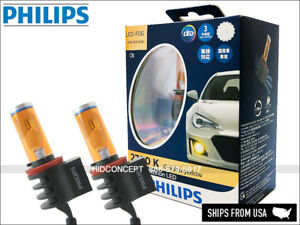 PHILIPS X-treme Ultinon 2700K LED H8 H11 Fog Lamps JDM Golden Yellow 12793UNIX2