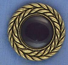 25mm Burgandy / Gold Shank Button