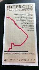 BRITISH RAIL INTERCITY LONDON WEST COUNTRY TRAIN TIMETABLE 1987