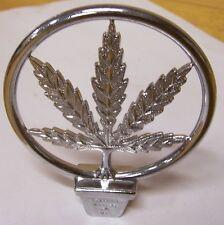 Marijuana Pot Leaf Weed Ornament Emblem Chopper Bobber Motocycle Rat Rod