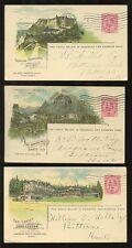 CANADA PACIFIC RAILWAY KE7 STATIONERY HOTELS 1907-09 LAKE LOUISE BANFF SPRINGS