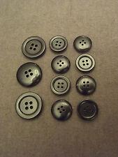 Authentic Black Buffalo Horn Suit Jacket Button Set!!