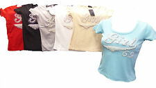 Womens Ladies New Varied Colorful Sequin/Diamond/Bead Tops ONE SIZE UK8-14