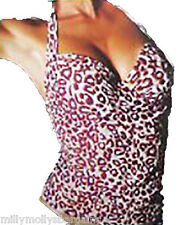 New Womens Cream Purple NEXT Tankini Top Size 34 32 A B C D DD E F RRP £20