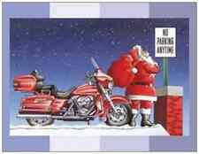 20 CHRISTMAS HARLEY Motorcycle SANTA Humorous Greeting FLAT CARDS Envelopes Seal