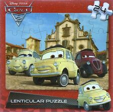 NEW ~ DISNEY ~ CARS 2 ~ 24 PIECE LENTICULAR MOTION PUZZLE