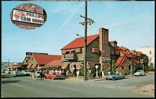 OCEAN CITY MD Phillips Crab House Restaurant Vintage 1960's Cars Postcard Old PC