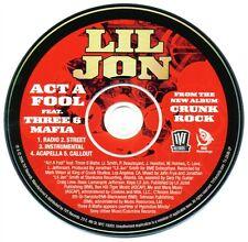 Lil Jon ACT A FOOL Feat Three 6 Mafia (Promo Maxi CD Single) (2006)