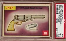 1953 Parkhurst GUNS & PISTOLS #18 COLT SECOND MODEL REVOLVER Scarce PSA 5.5 EX+
