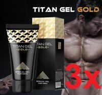 ⭐️⭐️⭐️⭐️⭐️ WOW! 3x Premium ORIGINAL Titan Gel GOLD Penisvergrößerung 50 ml ****