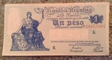 Argentina Banknote. One Peso. Dated 1947. Unc