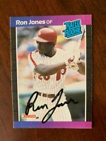 RON JONES PHILADELPHIA PHILLIES AUTOGRAPHED 1989 DONRUSS # 40 ROOKIE CARD