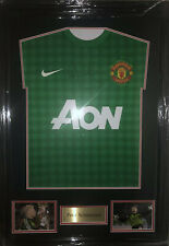 Signed Peter Schmeichel Retro Framed Manchester United Goalkeeper Shirt