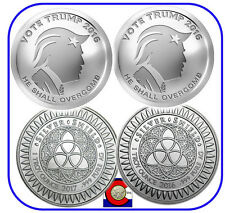 2016 & 2017 Vote Trump 1 oz. Silver Rounds/Coins -- Silver Shield in airtites