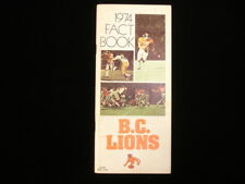 1974 British Columbia Lions CFL Media Guide
