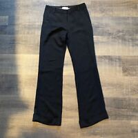 3.1 Phillip Lim Womens Size 4 Silk Black Dress Pants Trousers Work