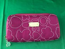 """TOUS authentic pink embossed Purse Zip wallet 8"""""""