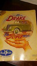 Vintage Bob Drake 1932-1948 Ford Parts Catalog  # 17 1987