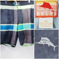 Tommy Bahama Relax Mens Size 38 Shorts Plaid Fade Design
