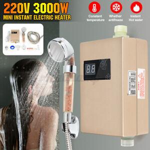 Durchlauferhitzer Warmwasserspeicher Boiler + Duschdüse Sofort Warm 3000W