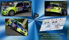 Décal 1/43 RENAULT CLIO S1600 AUGOYARD LIMOUSIN /ROUERGUE 2010
