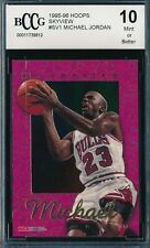 MICHAEL JORDAN 1995-96 SKYBOX NBA HOOPS SKYVIEW BCCG 10 CARD #SV1 BGS!