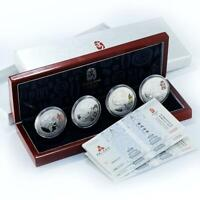China set of 4 coins Games of XXIX Olympiad Series III silver 2008