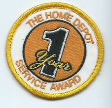 The Home Depot 1 year Award employee/driver patch 2-1/2 dia