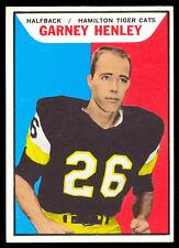 1965 TOPPS CFL FOOTBALL #51 GARNEY HENLEY NM HAMILTON TIGER-CATS HURON College