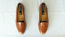 RARE! Mens $1000+ MICHELE LOISI Genuine Alligator Crocodile Loafer Shoe Boot 9.5