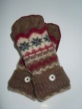 Handmade Felted Wool Mittens From Sweaters