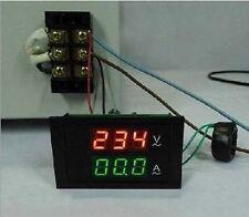 AC 300V/100A Digital Voltmeter Amperemeter Voltage Current +Sensing 110v 220v