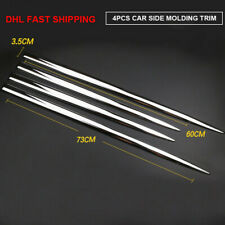 """TFP Chrome Universal Body Side Molding Insert Accent 21/"""" Length 2/"""" Wide 2Pcs"""