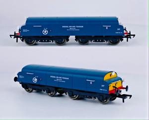 DAPOL 00 GAUGE - HM016 - DIESEL BRAKE TENDER BR BLUE YELLOW PANEL - NEW