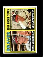1967 TOPPS #179 CHARLES VAUGHAN/CECIL UPSHAW EX RC ROOKIE BRAVES BRAVES *XR10852