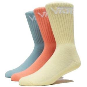 Vans Socks 3 Pack Crew Mellow Yellow Assorted SIZE 6-9 Skateboard Sox
