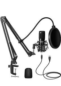 Neewer NW-800 USB Studio Condenser Microphone Kit w/Arm Stand, Shock Mount, Pop